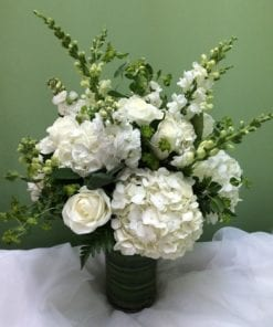 White floral arrangement in Mahwah, NJ