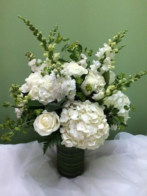 White floral arrangement in Mahwah, NJ
