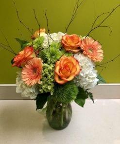 Orange Rose Floral Arrangement in Mahwah, NJ