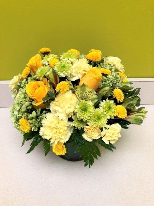 Pale Green & Yellow Floral Arrangement - Bergen County, NJ