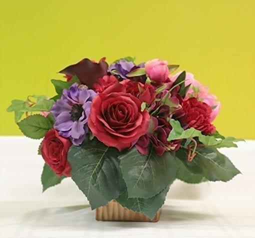 Colorful Silk Floral Arrangement - Bergen County, NJ Florist - Flor Bella Designs